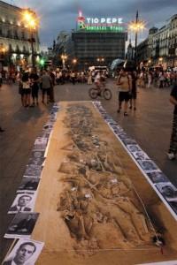 Photo fosse commune Puerta del sol Madrid